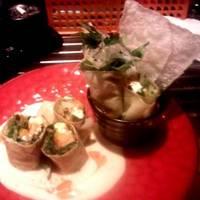 近江牛と香味野菜のゆば巻き