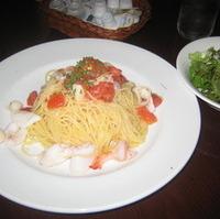 ヤリイカのトマトスパゲティ