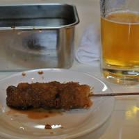 串かつ5本セット、天ぷら定食、生ビール、生酒、やきそば、他