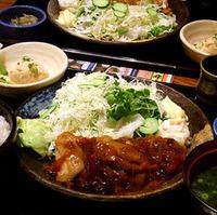 鶏肉の黒酢あんかけ定食