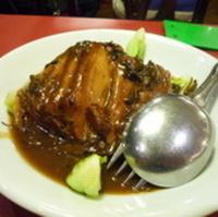 豚の角煮と中国野菜