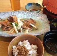 太刀魚と厚揚げの塩野菜あんかけ&おひつご飯