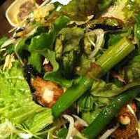岩のりとじゃこの野菜サラダ