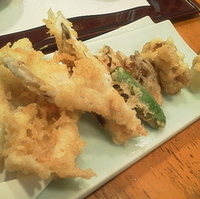 穴子と舞茸の天ぷら