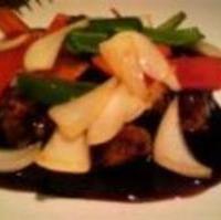 甲州信玄鶏と旬野菜の甘酢ソース