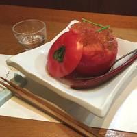 トマトのマリネ土佐酢ジュレがけ