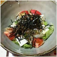 信州野菜と無添加豆腐のサラダ
