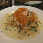 秋鮭といくらのクリームパスタ