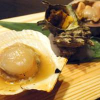 貝の3種盛り