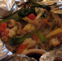 タコとツブ貝のエスカルゴバター焼き