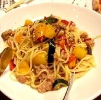 夏野菜のペペロンチーノ