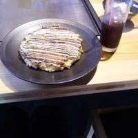 大阪の豚玉定食