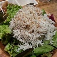 山盛しらすと豆腐のサラダ