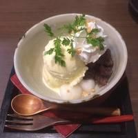 鯛のカルパッチョ・茶美豚の角煮・和風パフェ