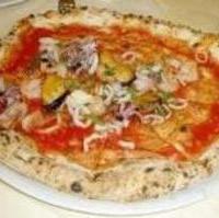 魚介のピザ