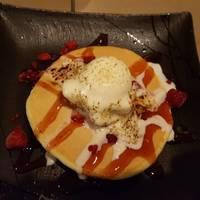 焦がしバニラアイスのパンケーキ