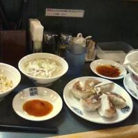 とりそば(塩味)&半チャーハン&焼餃子