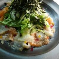 海鮮マリネと水菜のサラダ