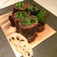 黒毛和種 増田牛と万願寺唐辛子の山椒焼