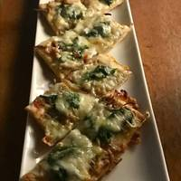 ジャコと菜花のピザ
