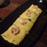 もろ味噌大根のジャコと九条葱の出し巻き卵
