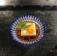 うにのせ豆腐