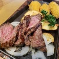 うわみすじステーキ&広島産カキフライ