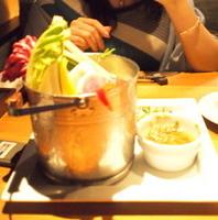新鮮野菜の特製バーニャカウダ