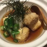 山芋とオクラの揚げ出し豆腐