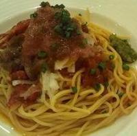 パステルマグロのトマトソース