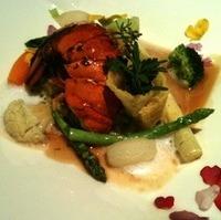 オマール海老のリソレと季節野菜のリゾット