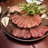 牛塊肉とエゾシカ肉