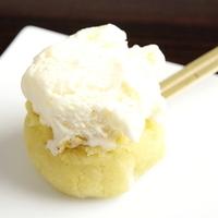アイスクリーム添えスイートポテトの串焼き