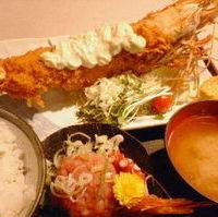 スーパージャンボ海老フライ定食