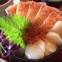 オーロラサーモン丼