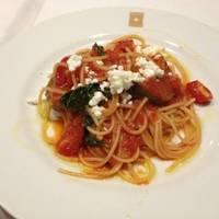 茄子とアンチョビのトマトソースパスタ