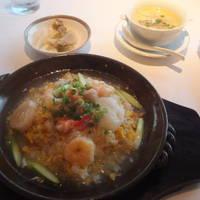 海の幸土鍋あんかけ炒飯