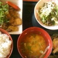 炭火豚バラ定食