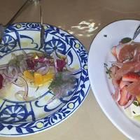 糸よりのカルパッチョと季節のサラダ
