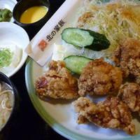若鶏の唐揚げ定食 税込680円