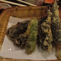 納豆と大葉の包み天ぷら