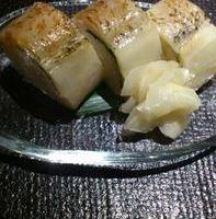 のど黒の炙り棒寿司