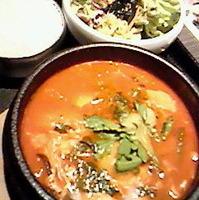 元祖純豆腐チゲ定食