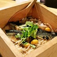 秋刀魚の蒲焼き蒸篭飯