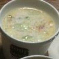 桜海老と春キャベツのクリームスープ
