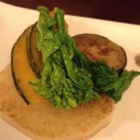 季節の野菜の鉄板焼き
