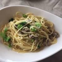 サルシッチャとブロッコリーのスパゲッティ