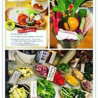 ベヂポタつけ麺!農園サラダバー!レンコンピザ!