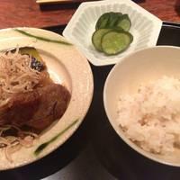 山形牛の焼き物と生姜ご飯