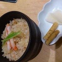 蟹の炊き込みご飯